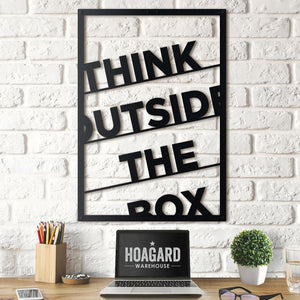 Hoagard Metal Wall Quotes | Think Outside the Box