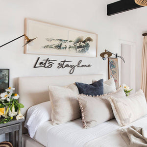 Hoagard Metal Wall Quotes | Let's Stay Home