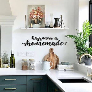 Hoagard Metal Wall Quotes | Happiness Is Homemade