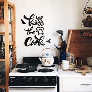 Hoagard Metal Wall Quotes | Kiss The Cook