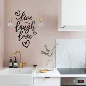 Hoagard Metal Wall Quotes | Live Laugh Love