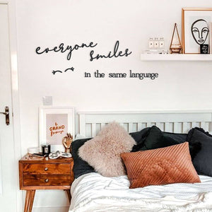 Hoagard Wall Letters | Everyone Smiles In The Same Language