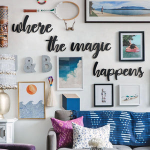 Hoagard | Where The Magic Happens Wall Art | Wall Signs and Quotes | 5 Piece