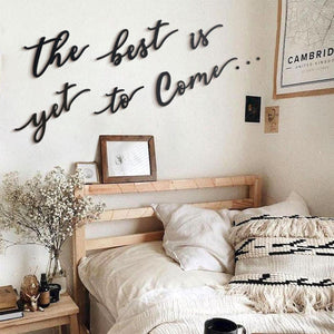 Hoagard | The Best Is Yet To Come Wall Art | Wall Letters and Quotes | 6 Pieces