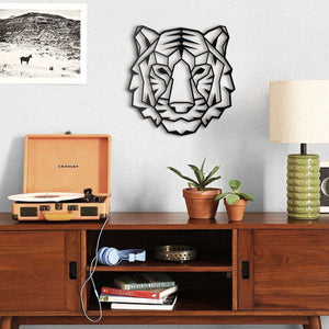 Hoagard Tiger Metal Wall Art | Geometric Metal Wall Art & Wall Decoration