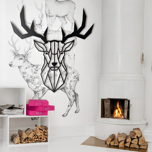 Hoagard Deer Head Metal Wall Art | Geometric Metal Wall Art & Wall Decoration