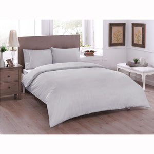 Basic Ranforce Duvet Cover Set - Double Size  - Gray