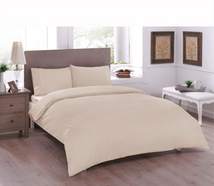Basic Ranforce Duvet Cover Set - Double Size - Beige