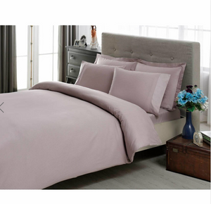 Linens Premium - Stripe, Satin Duvet Cover Set (6 pcs) - Lilac | King Size, 240x220 cm