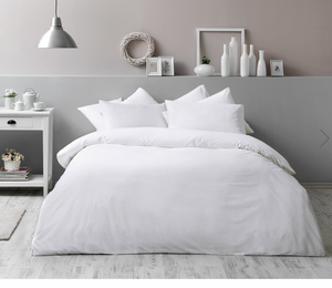 Antimicrobial Duvet Cover Set (4 pcs)- White - Cotton, 200x220 cm