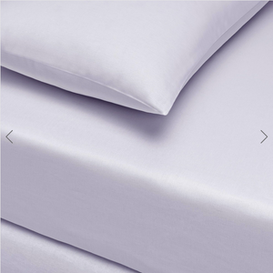 Basic Fitted Sheet Set ( Bedsheet + 2 Pillowcases) Super King - 180x200 cm - Lilac