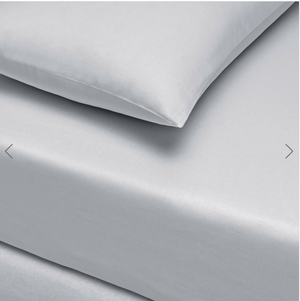 Basic Fitted Sheet Set ( Bedsheet + 2 Pillowcases) Super King - 180x200 cm - Gray
