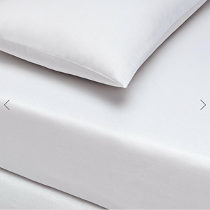 Basic Fitted Sheet Set ( Bedsheet + 2 Pillowcases) Super King - 180x200 cm - White