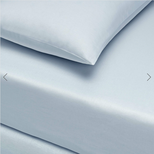 Basic Fitted Sheet Set ( Bedsheet + 2 Pillowcases) Super King - 180x200 cm - Light Blue