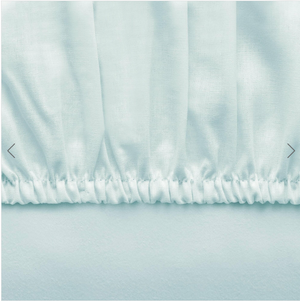 Basic Fitted Sheet Set ( Bedsheet + 2 Pillowcases) - 160x200 cm - Mint