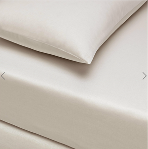 Basic Fitted Sheet Set ( Bedsheet + 2 Pillowcases) Super King - 180x200 cm - Latte