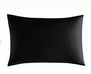 Mix & Match - Satin Pillowcase Set (2-Pack)- Black - 50X70cm