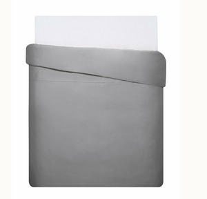 Mix & Match - Cotton Satin Duvet Cover Set (3pieces) - Gray - 200x220 cm