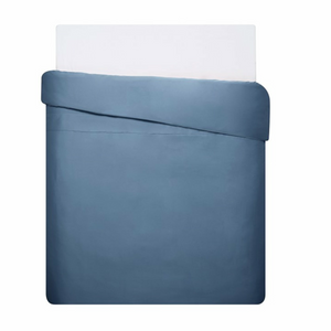 Mix & Match - Cotton Satin Duvet Cover Set (3 pieces) - Indigo Blue- 200x220 cm