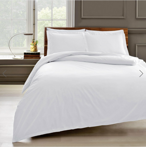 Basic - Cotton Duvet Cover + Pillow Set - White - 200x220 cm