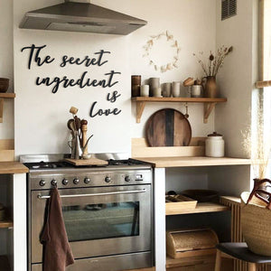 Hoagard | The Secret Ingredient Is Love | Metal Wall Art