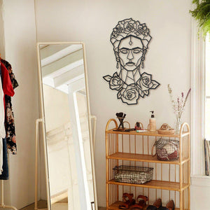 Hoagard Metal Wall Art Frida | Geometric Metal Wall Art & Wall Decoration