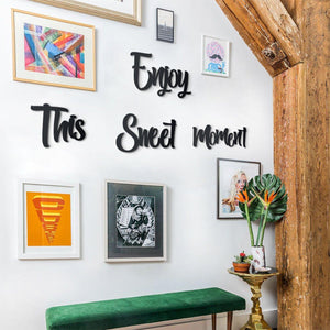 Hoagard | Enjoy This Sweet Moment Wall Art | Wall Signs and Quotes | 4 Piece