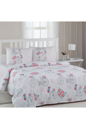 Ozdilek Floretta Duvet Cover Single Person Bike Pattern 160x220cm