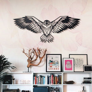 Hoagard Eagle Metal Wall Art | Geometric Metal Wall Art & Wall Decoration