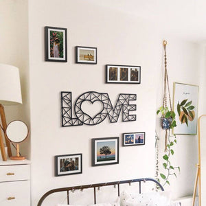 Hoagard Love 1 Metal Wall Art | Geometric Metal Wall Art & Wall Decoration