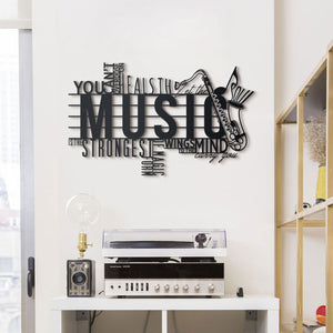 Hoagard Music Metal Wall Art | Geometric Metal Wall Art & Wall Decoration