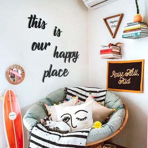 Hoagard | This Is Our Happy Place Wall Art | Wall Signs and Quotes | 5 Piece