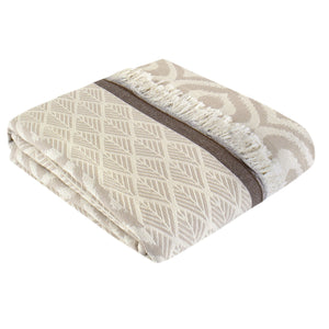 Throw Plaid | Comfort | 135x170 cm | Coffee & Beige