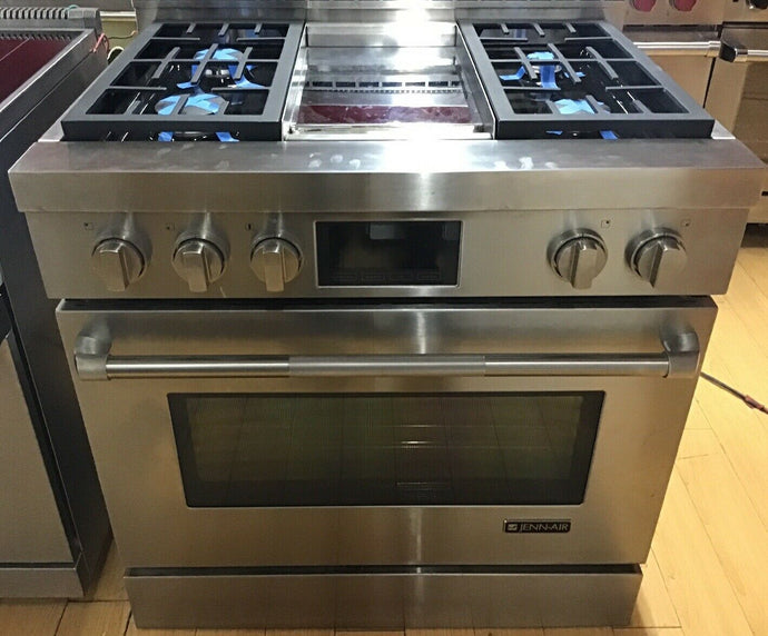 Jenn-Air JGRP536WP 36Inch Gas Freestanding Range 4 Sealed Burner Stainless Steel