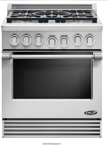 DCS RGV305N Professional Series 30 Inch Slide-In Gas Range with 5 Sealed Burners