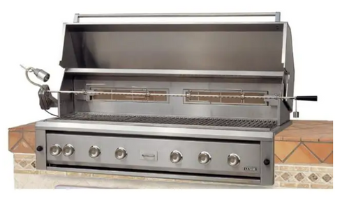 Luxor 54-Inch Built-In Natural Gas Grill W/ One Infrared Burner & Rotisserie - AHT-54RCV-BI-NG