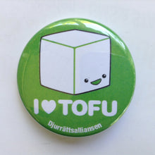 Load image into Gallery viewer, Pin: I ❤️ Tofu