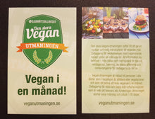 Load image into Gallery viewer, Visitkort: Veganutmaningen