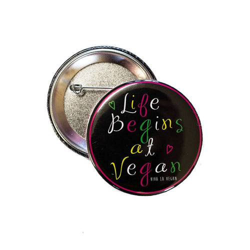 Pin: Life begins at vegan