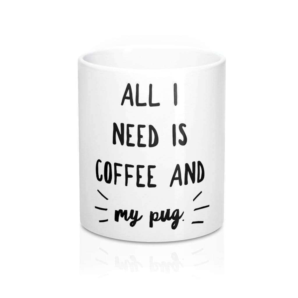 Mug 11oz Ceramic Coffee Pug Mug 11oz