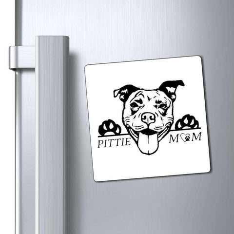 Image of Paper products Pittie Mom Car Magnet