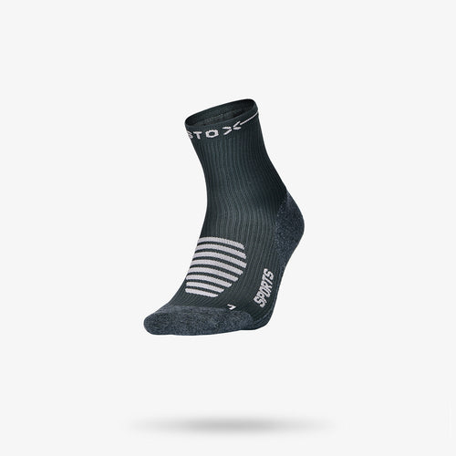 Sports Ankle Socks Women - Dark Grey / Light Pink