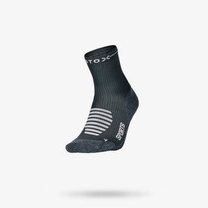 Sports Ankle Socks Damen - Dunkelgrau / Hellrosa