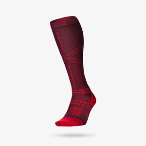 Running Socks Men - Bordeaux / Red