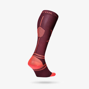 Sports Socks Dam - Bordeaux / Orange