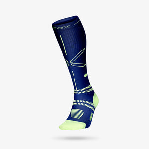 Running Socks Men - Dark Blue / Yellow