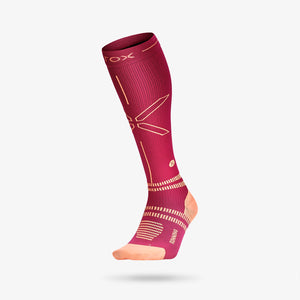 Running Socks Women - Fuchsia / Orange