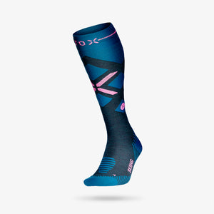 Skiing Socks Women - Teal / Pink