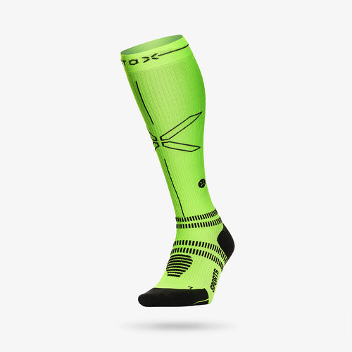 Sports Socks Women - Yellow Fluo / Black