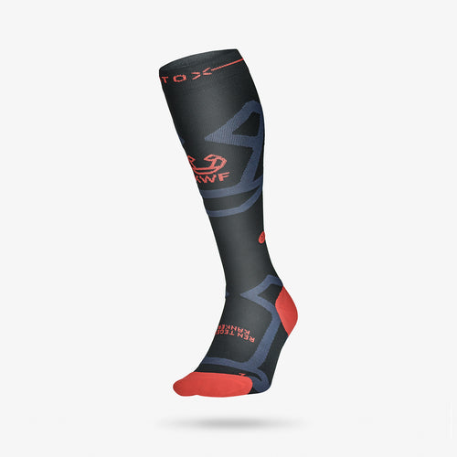 KWF Support Socks Women - Black / Red